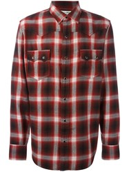 Saint Laurent Western Checked Shirt Red