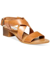 Steve Madden Women's Lorelle Dress Sandals Women's Shoes Cognac