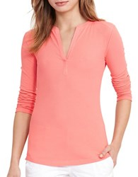Lauren Ralph Lauren Slim Fit Long Sleeve Tee Summer Peach