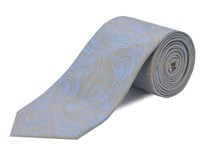 Double Two Silk Tie Beige