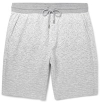 Michael Kors Loopback Cotton Jersey Shorts Gray