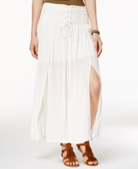 American Rag Lace Up Maxi Skirt Only At Macy's White