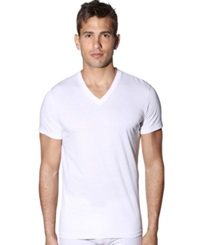 Levi's Men's 100 Series V Neck T Shirt 4 Pack White
