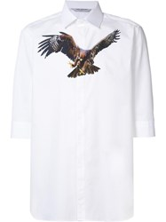 Neil Barrett Eagle Print Shirt White