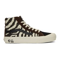 Vans Brown And Off White Taka Hayashi Edition Style 138 Lx High Top Sneakers