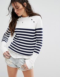 Lovers Friends Nautical Stripe Jumper Navy Stripe