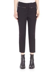 Ms. Min Zipper Accented Cropped Pants Black