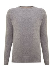 Criminal Ennis Crew Neck Jumper Grey Marl