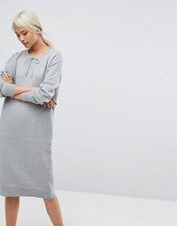 Selected Sweat Dress Grey