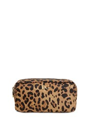 Dolce And Gabbana Leopard Print Nylon Make Up Bag