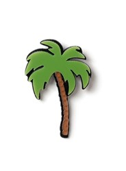Topman Green Palm Tree Shaped Badge Multi