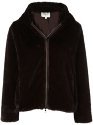 Vince Plush Faux Fur Jacket Brown