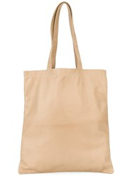 Isaac Reina Ultra Soft Tote Women Lamb Skin One Size Nude Neutrals