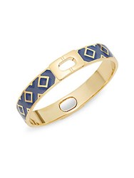 Diane Von Furstenberg Holiday Pave Geometric Bangle Bracelet Blue