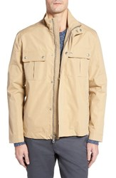 Cole Haan Men's Stand Collar Water Repellent Jacket Khaki