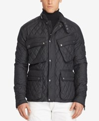 Polo Ralph Lauren Men's Big And Tall Quilted Utility Jacket Black
