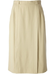 Celine Vintage A Line Skirt Nude And Neutrals