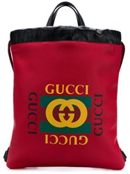 Gucci Printed Backpack Red
