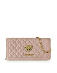 Love Moschino Quilted Wallet On Chain Pink