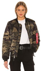 Alpha Industries Ma 1 W Bomber In Olive Navy. Dark Wooland Camo
