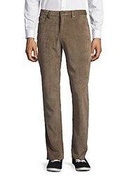 Saks Fifth Avenue Black Corduroy Five Pocket Pants Khaki