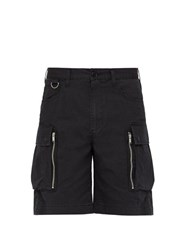 Undercover Relaxed Fit Cotton Poplin Cargo Shorts Black