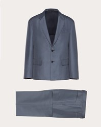 Valentino Uomo Unlined 2 Button Suit Man Iron Grey Silk 15