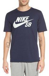 Nike Men's 'Sb Logo' T Shirt Obsidian Obsidian Light Silver