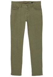 Mango Pisa Slim Fit Jeans Khaki Dark Green