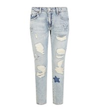 Denim And Supply Ralph Lauren Star Applique Skinny Jeans Female Blue