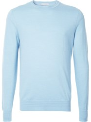 Gieves And Hawkes Crew Neck Jumper Blue