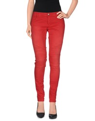 Denny Rose Trousers Casual Trousers Women Red
