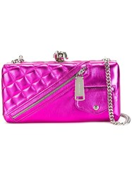 Dsquared2 Barbed Wire Clutch Pink Purple