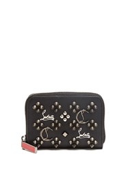 Christian Louboutin Panettone Loubisky Leather Coin Purse Black Multi