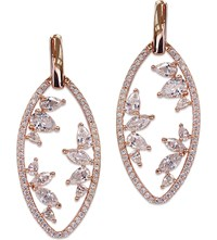 Carat London Morelia Rose Gold Plated Sterling Silver Earrings