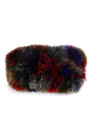 Surell Multicolor Fox Fur Headband