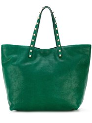 Red Valentino Studded Tote Green