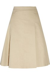 Isabel Marant Malte Wrap Effect Cotton Crepe Skirt White