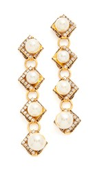 Erickson Beamon Bermuda Triangle Earrings Gold
