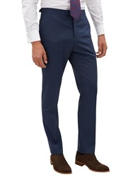 Jaeger Plainweave Slim Fit Trousers Navy