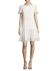 Nue By Shani Crochet Flare Dress Ivory
