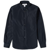 Comme Des Garcons Shirt Button Down Classic Poplin Shirt Blue