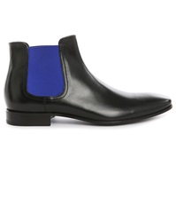 Pete Sorensen Phantom Black With Blue Elastic Boots