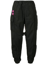 Off White Loose Fit Track Trousers Black