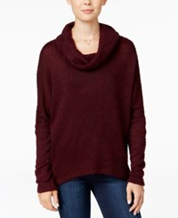 Bar Iii Cowl Neck Knit Top Only At Macy's Deep Merlot
