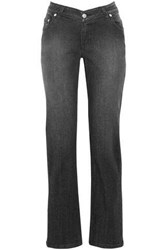 Opening Ceremony Faded Mid Rise Slim Leg Jeans Black