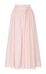 Mds Stripes High Waist Pleated Skirt Pink
