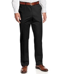 Haggar Pants No Iron Straight Fit Cotton Pants Black