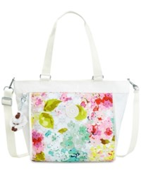 Kipling New Shopper Extra Large Tote Luscious Florals W Combo Silver