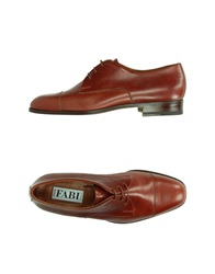 Fabi Lace Up Shoes Brick Red